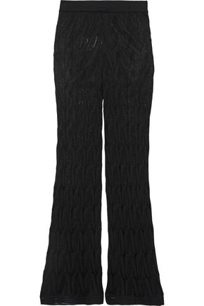 M MISSONI Crochet-knit wool-blend flared pants