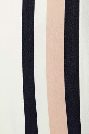 IRIS & INK Trinity striped crepe de chine wide-leg pants