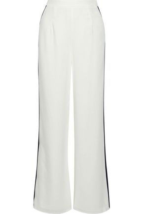 IRIS & INK Trinity striped crepe de chine wide-leg pants