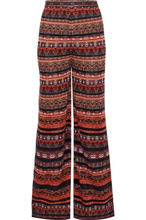M MISSONI Metallic crochet-knit wide-leg pants