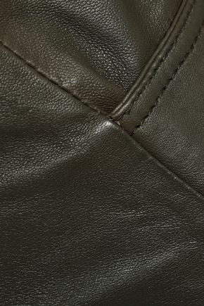 MUUBAA Leather straight-leg pants