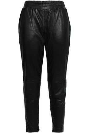 MUUBAA Leather tapered pants