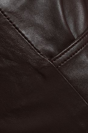 MUUBAA Leather straight-leg pants