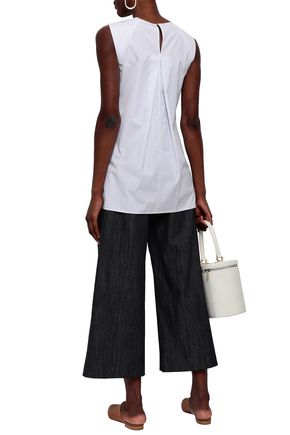 ADAM LIPPES Cropped wide-leg jeans