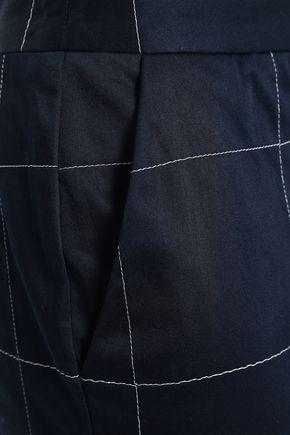 STELLA JEAN Checked cotton-blend straight-leg pants