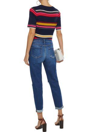 L'AGENCE Rachel distressed mid-rise slim-leg jeans