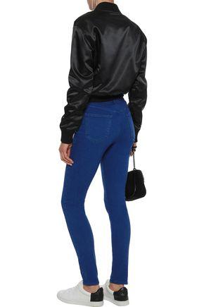 J BRAND Maria striped mid-rise skinny jeans