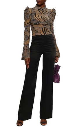 DE LA VALI Satin wide-leg pants