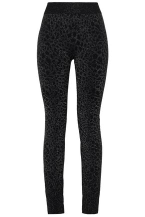 WOLFORD Eleonor metallic animal-print leggings