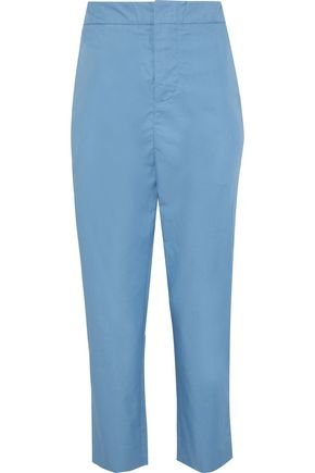 MARNI Cropped cotton-poplin tapered pants
