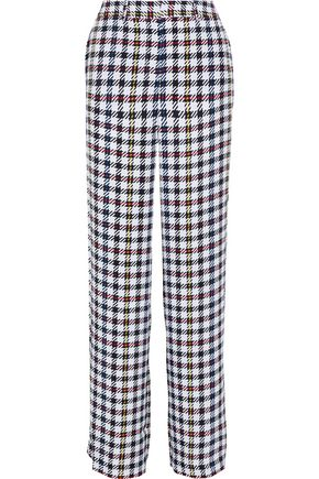 EQUIPMENT Arwen houndstooth silk wide-leg pants