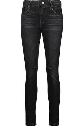 RTA Monroe distressed high-rise skinny jeans
