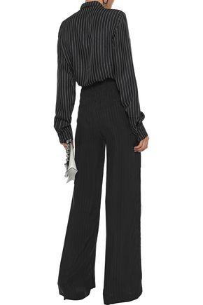 RTA Striped twill wide-leg pants