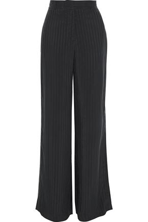 RTA Striped twill wide-leg pants