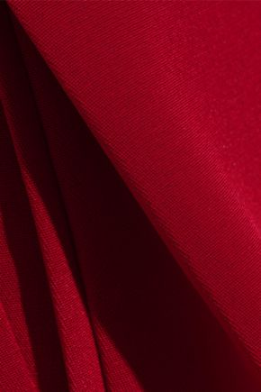 ADAM LIPPES Pleated silk-crepe culottes