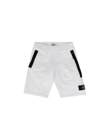 STONE ISLAND JUNIOR FLEECE BERMUDA SHORTS Man 60240 f