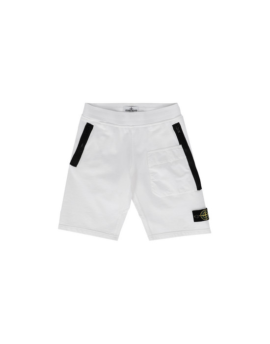 STONE ISLAND JUNIOR FLEECE BERMUDA SHORTS 60240