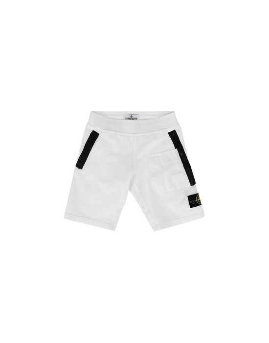STONE ISLAND KIDS FLEECE BERMUDA SHORTS 60240
