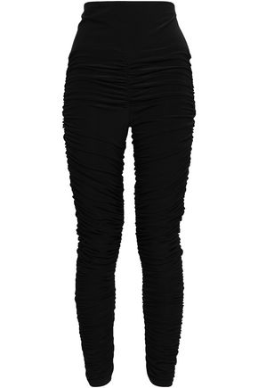 6351028f7 NORMA KAMALI Ruched stretch-jersey leggings