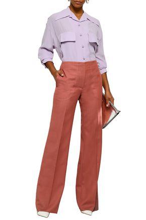 VICTORIA BECKHAM Twill wide-leg pants