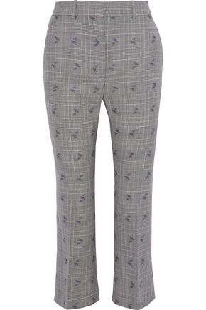 ALTUZARRA Wool-blend jacquard kick-flare pants