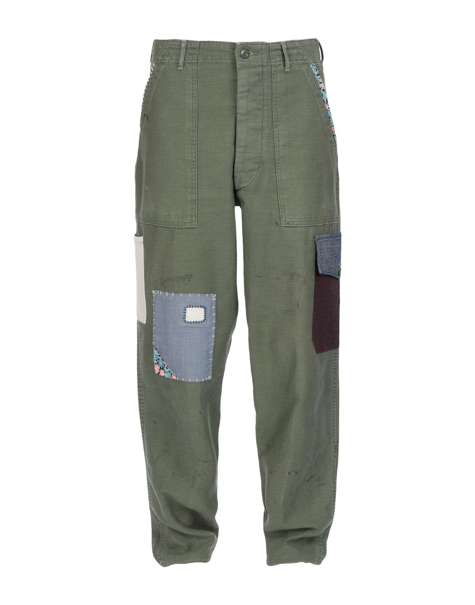 《セール開催中》ATELIER & REPAIRS メンズ パンツ ミリタリーグリーン 27 コットン 100%