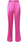 ROBERT RODRIGUEZ Belted satin-twill straight-leg pants