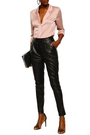 ROBERT RODRIGUEZ Leather tapered pants