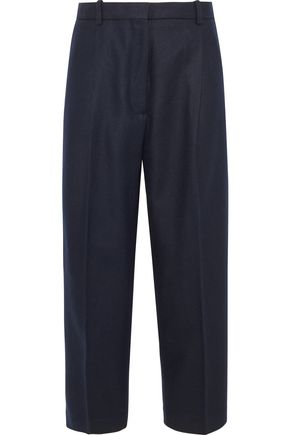 ACNE STUDIOS Tabea cropped wool-blend flannel straight-leg pants