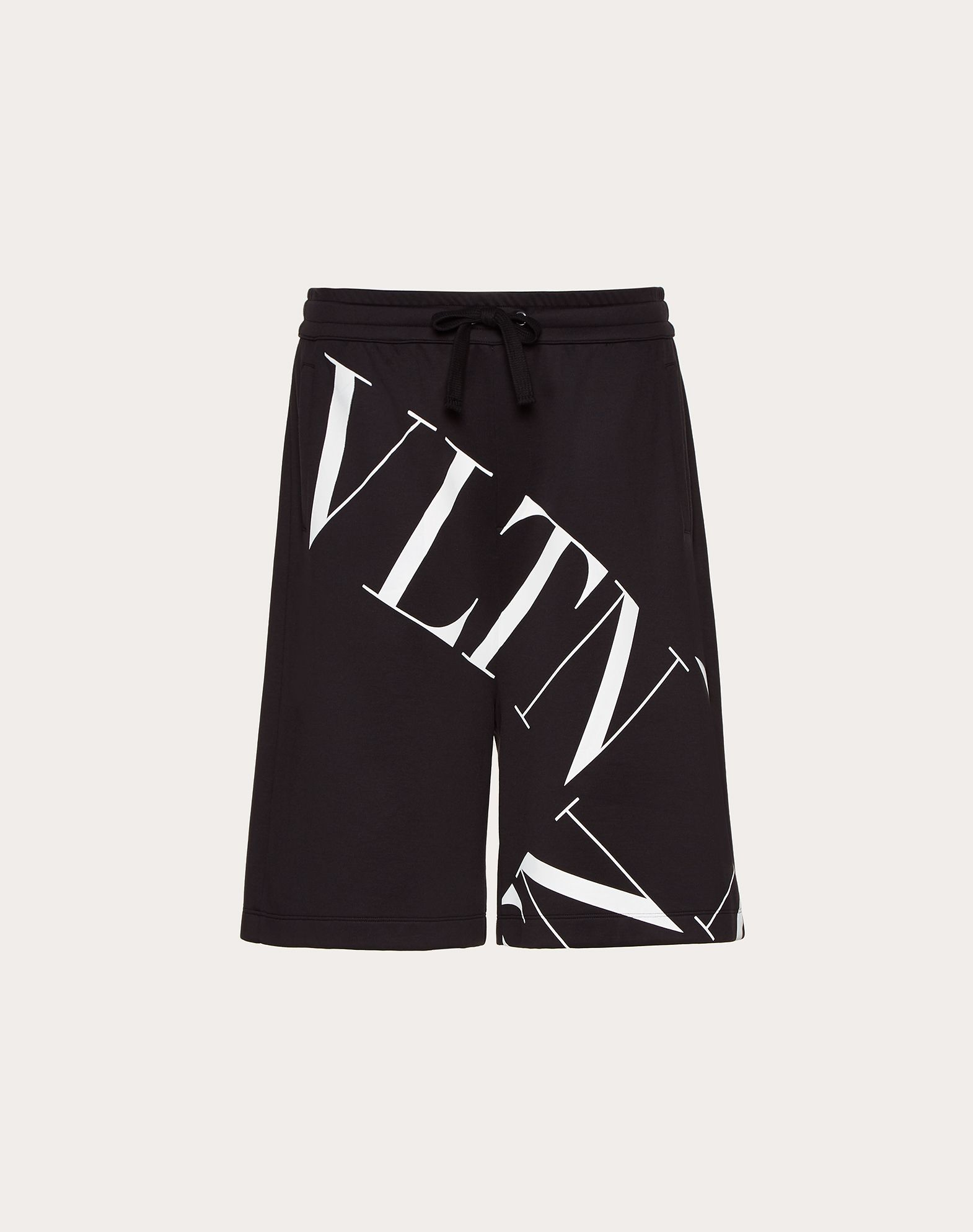 JERSEY BERMUDA SHORTS WITH VLTN MACROGRID
