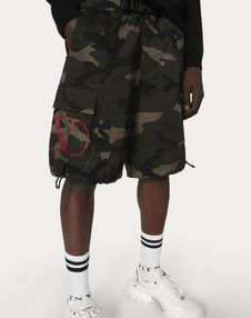 CAMOUFLAGE COTTON BERMUDA SHORTS