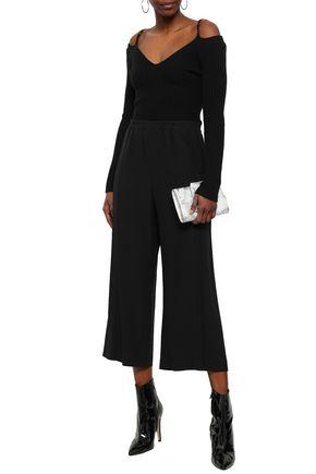 HELMUT LANG Cropped crepe wide-leg pants