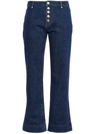 ALEXACHUNG Cordica mid-rise kick-flare jeans