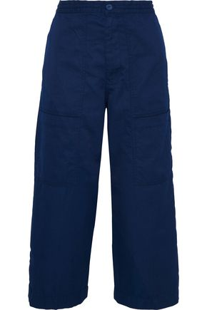 ACNE STUDIOS Iron cropped cotton-blend twill wide-leg pants
