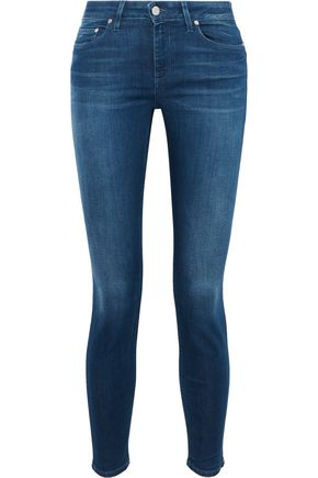 ACNE STUDIOS Skin 5 faded mid-rise skinny jeans