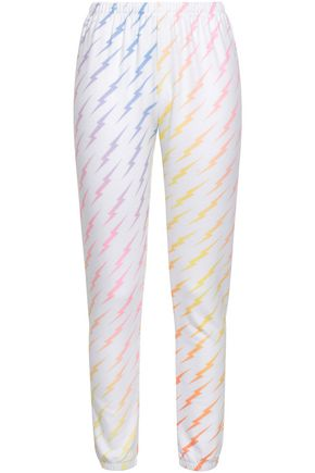 WILDFOX Printed fleece track pants