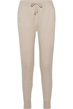 ACNE STUDIOS Mélange cotton-blend jersey track pants
