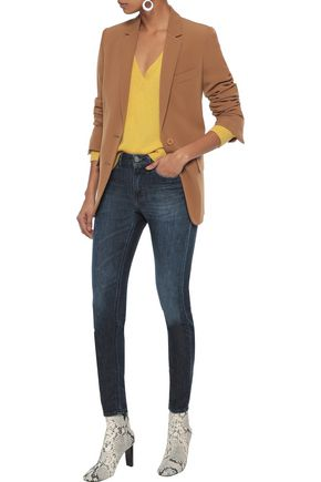 Acne Studios Jeans ACNE STUDIOS WOMAN SKIN 5 FADED LOW-RISE SKINNY JEANS DARK DENIM