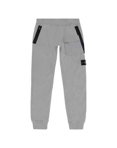STONE ISLAND JUNIOR Fleece Trousers Man 62240 f