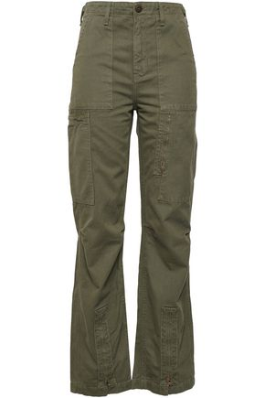 RE/DONE Cotton-twill straight-leg pants
