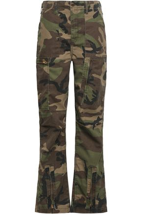 RE/DONE Printed twill straight-leg pants