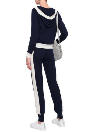 MADELEINE THOMPSON Wool and cashmere-blend track pants