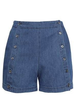 3x1 Amy button-detailed denim shorts