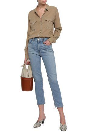 3x1 Colette cropped high-rise slim-leg jeans