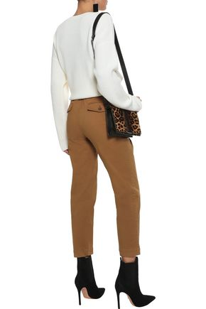 ROBERT RODRIGUEZ Cropped stretch-cotton twill straight-leg pants