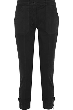 ROBERT RODRIGUEZ Cropped cotton-blend twill skinny pants