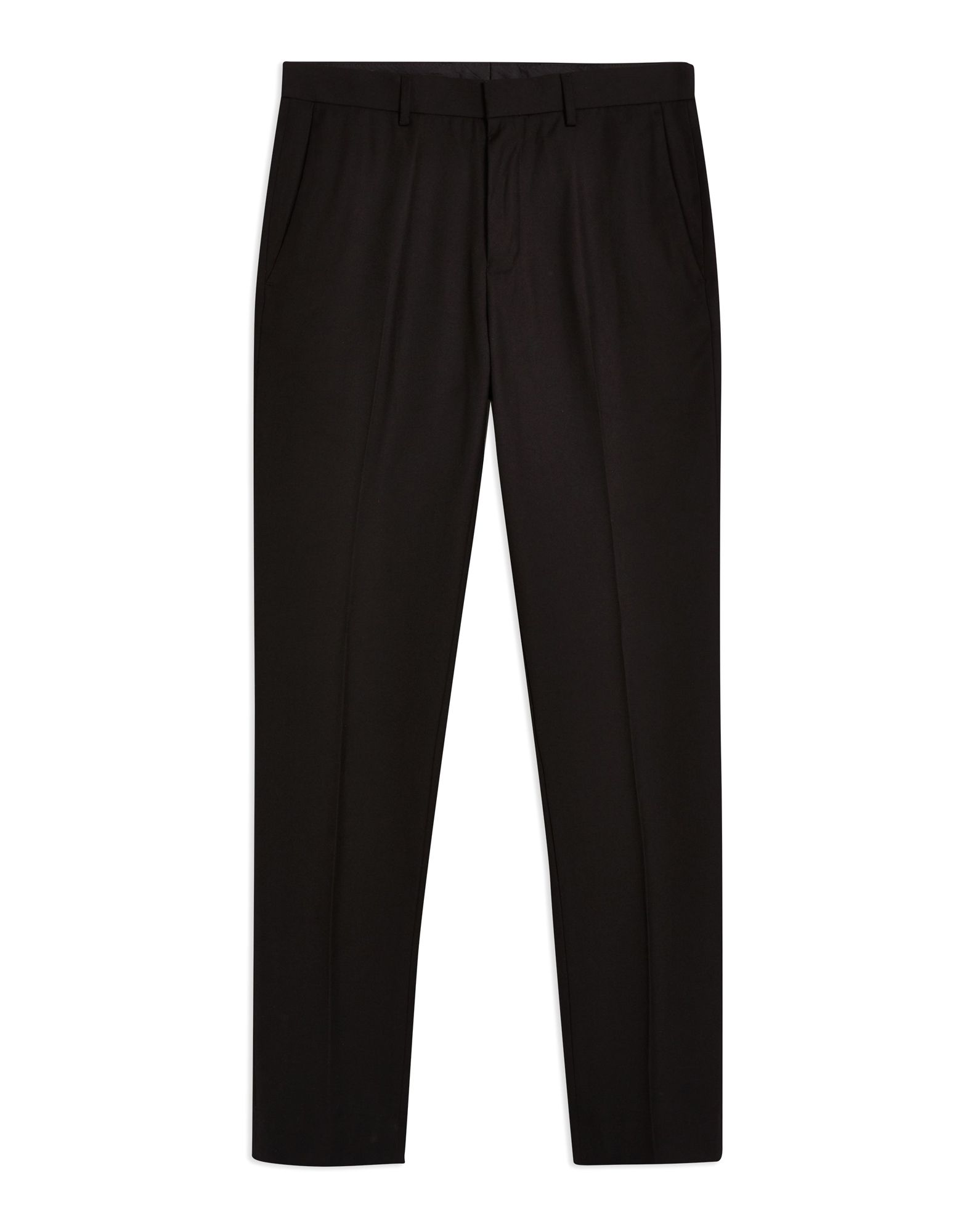 《期間限定セール中》TOPMAN メンズ パンツ ブラック 28 ポリエステル 78% / レーヨン 22% Black Skinny Suit Trousers
