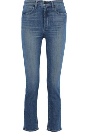 RAG & BONE Faded high-rise slim-leg jeans