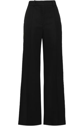 ADAM LIPPES Pleated wool-blend wide-leg pants