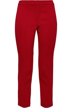 ADAM LIPPES Cropped crepe slim-leg pants
